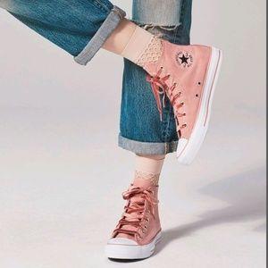 Velvet high Top Shoes